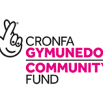 Logo displaying the lottery crossed fingers sign and Cronfa Gymunedol, Community Fund