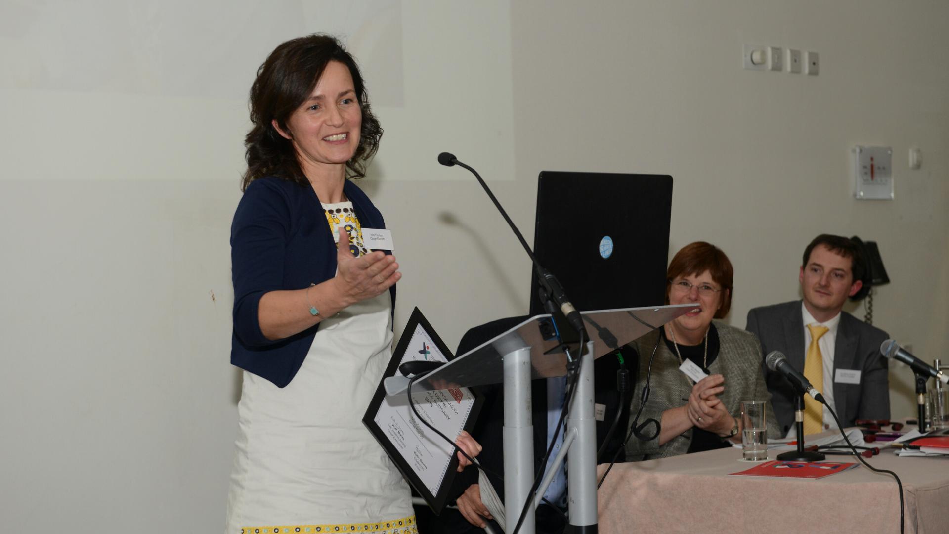 Isla Horton giving speech at WCVA AGM 2018