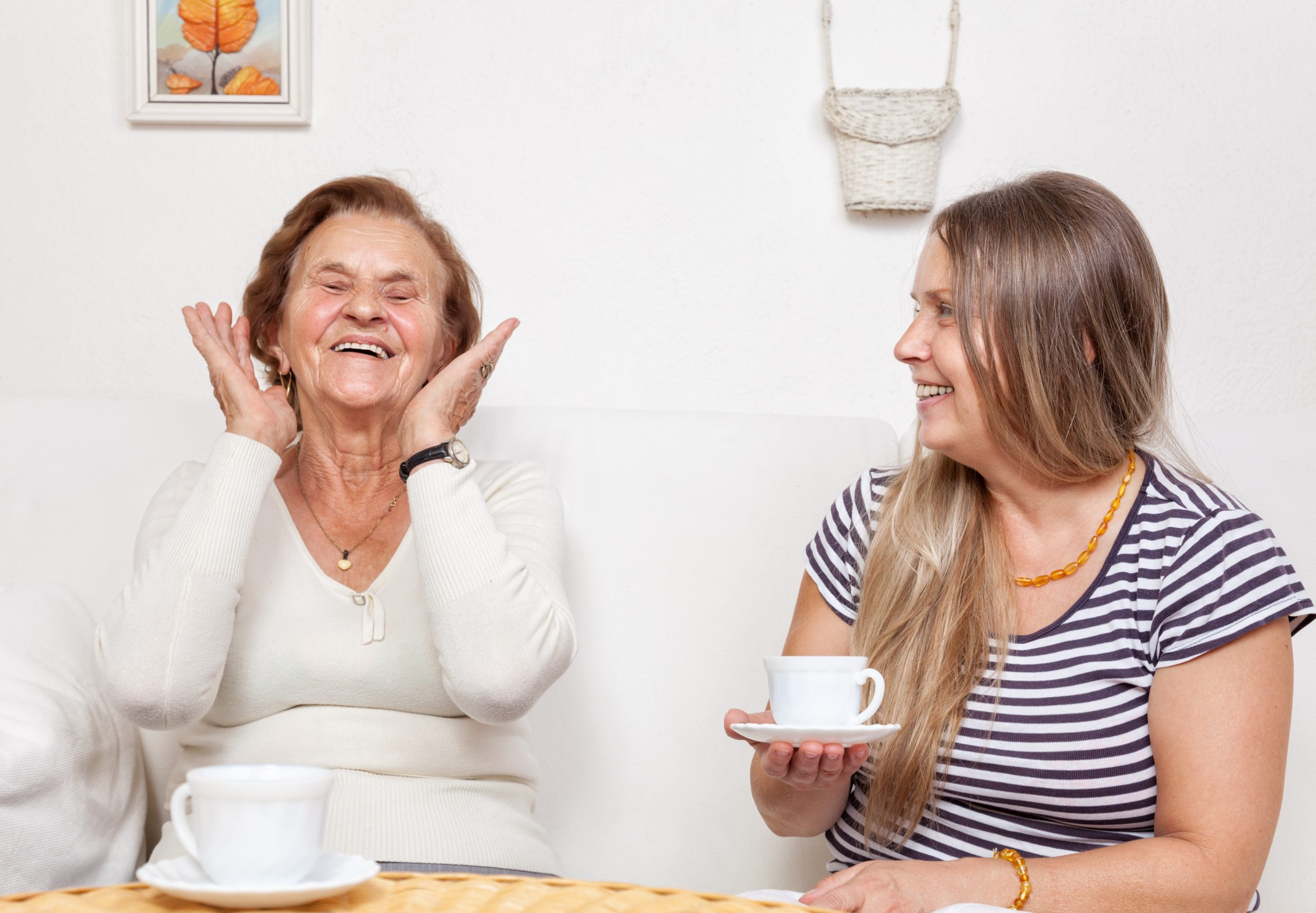 two women enjoying cuppa
