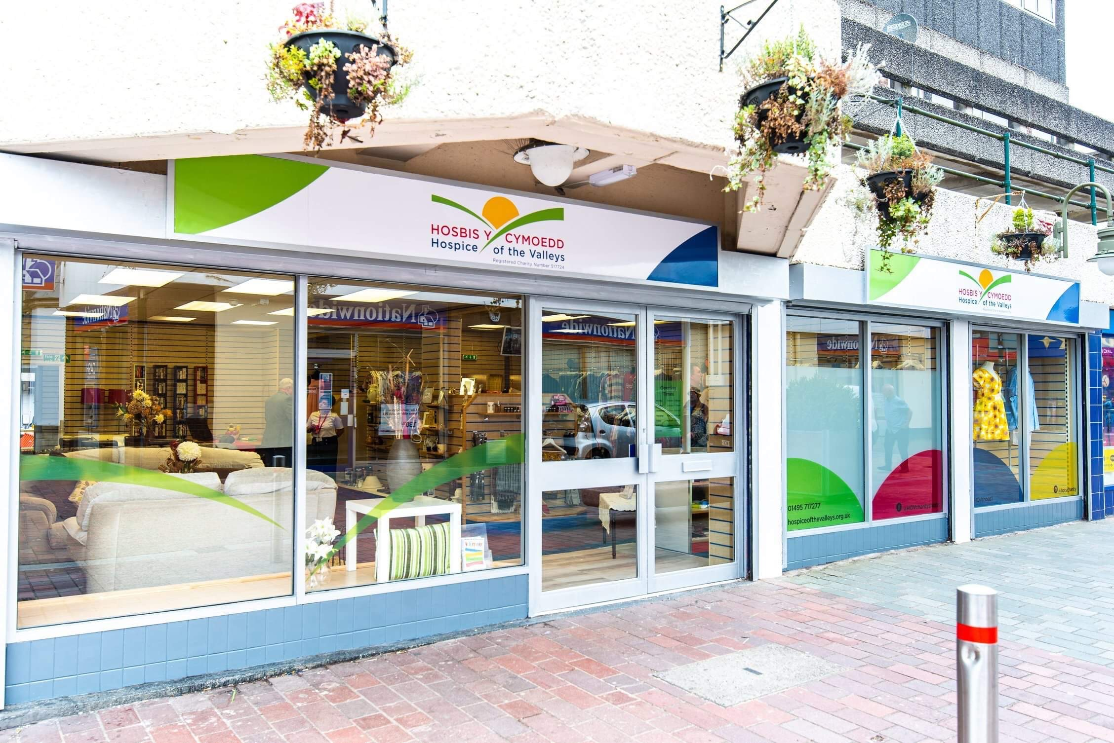 External shot of a Hospice of the Valleys charity shop