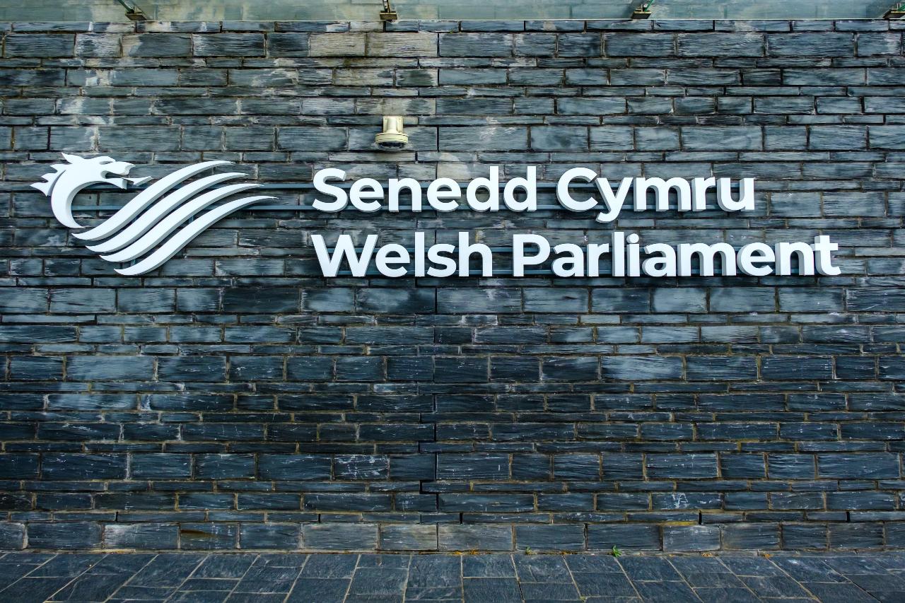 Outside Wales' Senedd