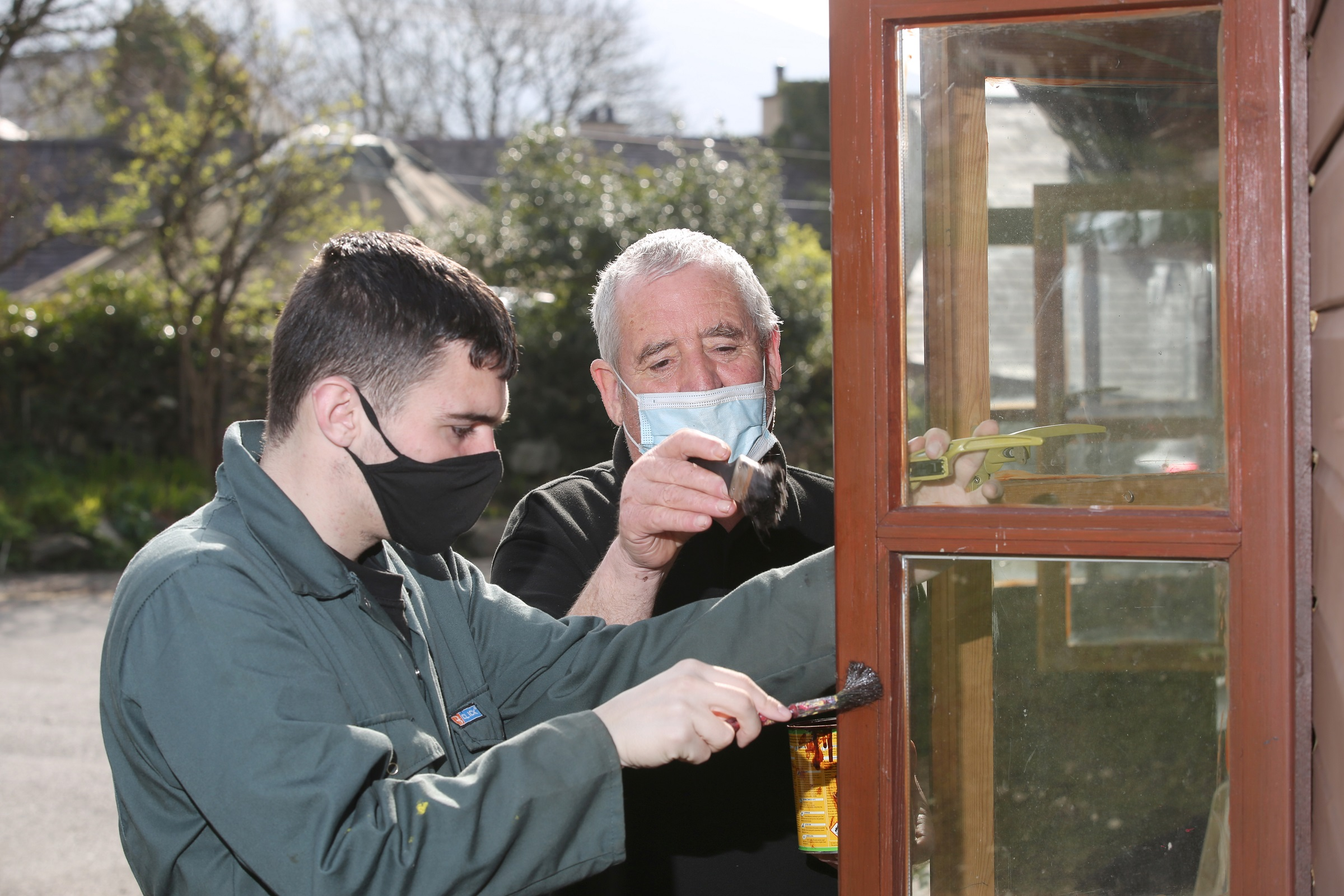 Painting windows at Antur Waunfawr who received funding to invest in their centre through our Social Business Growth Fund (SBGF). SBGF is part funded by the European Regional Development Fund