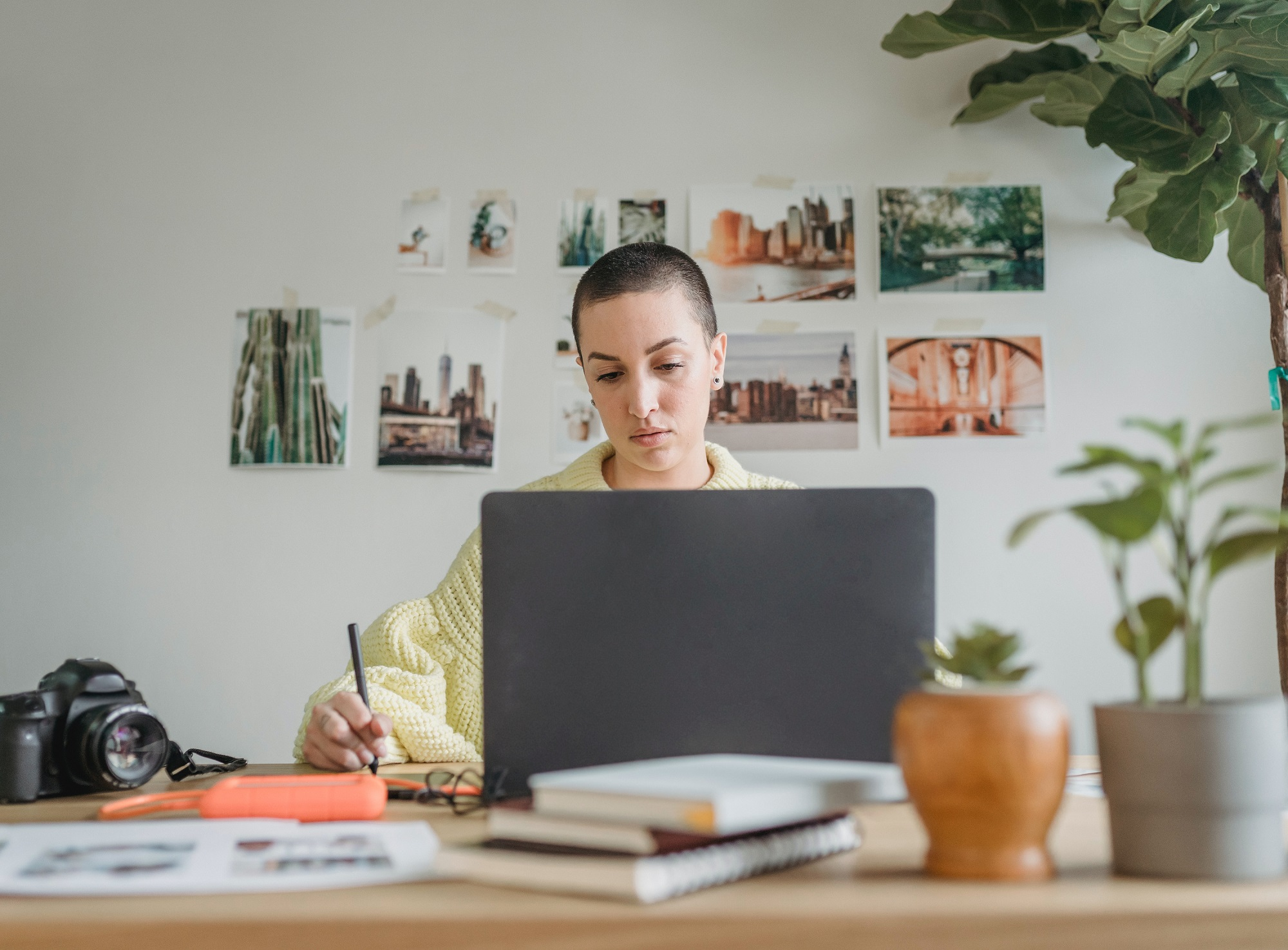 Image: employee working from home
